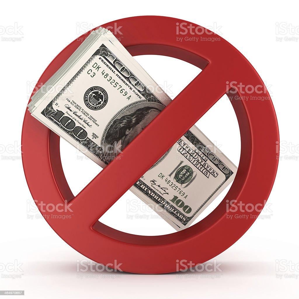 No money concept stock photo
