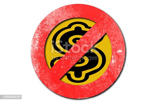 istock No money sign in red with white background 1055059252