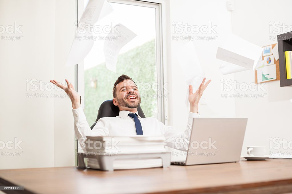 No more work, it's finally Friday! stock photo