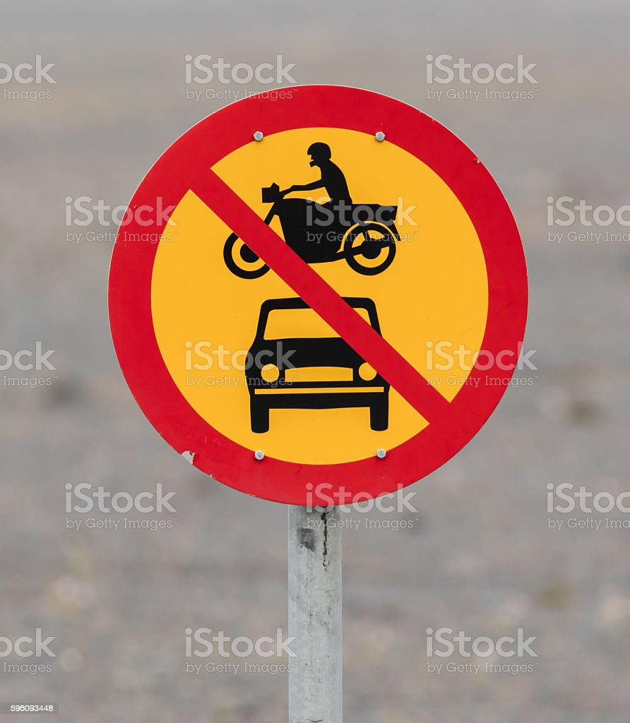 No motor vehicles allowed royalty-free stock photo