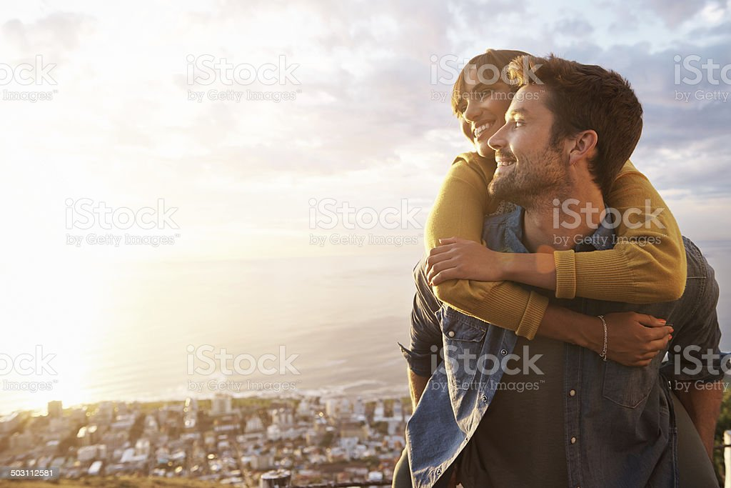 No need to purchase cable car tickets! stock photo