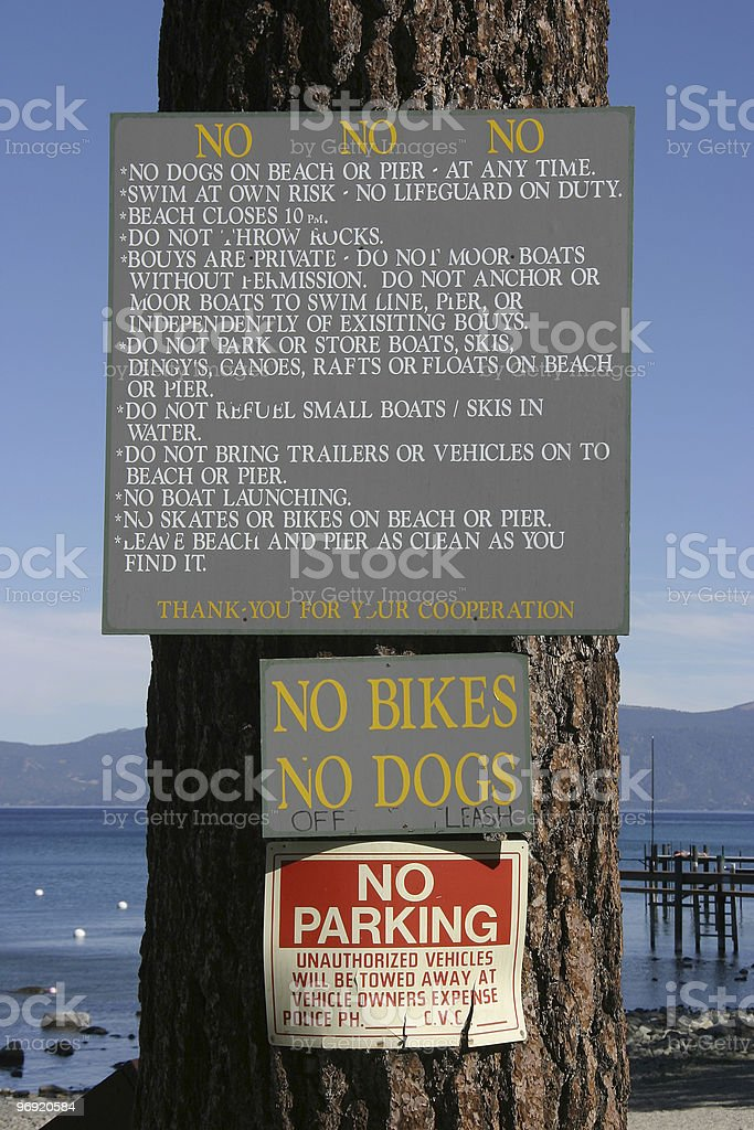no, No, NO! Sign royalty-free stock photo