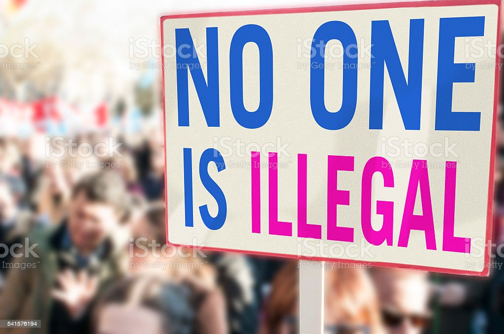 No one is illegal stock photo