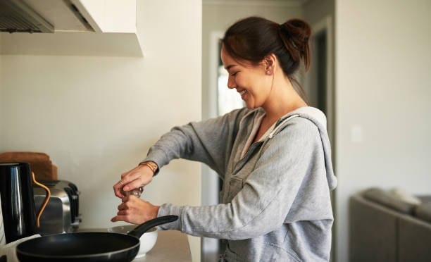 No one loves my cooking as much as I do stock photo