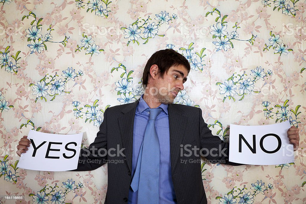 No or Yes royalty-free stock photo