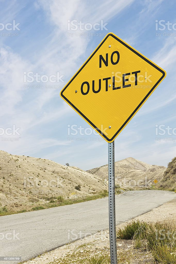 No Outlet Sign stock photo
