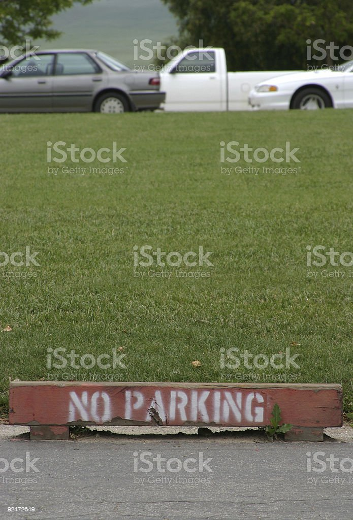 No Parking 2 royalty-free stock photo