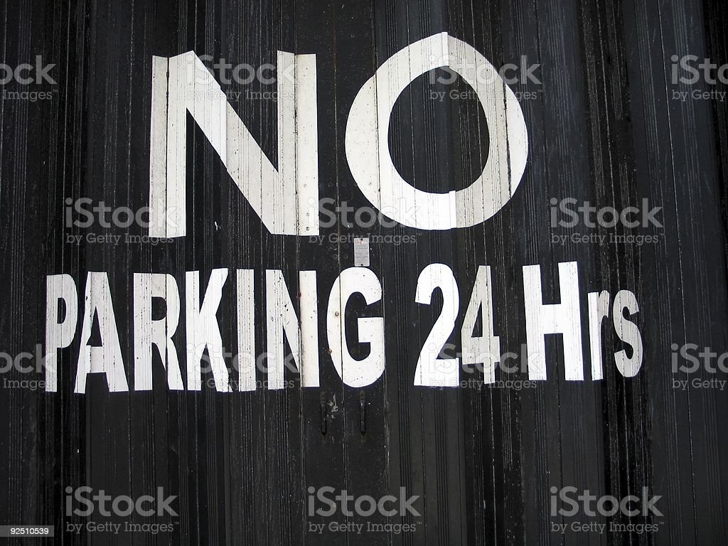 No parking 24 hrs royalty-free stock photo