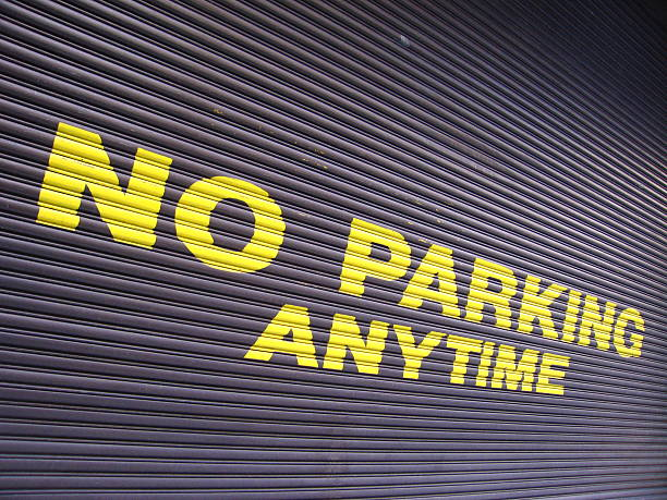 No Parking Anytime stock photo