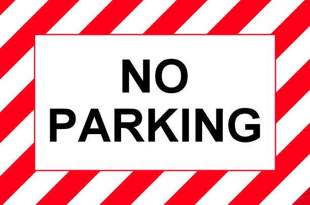 kein Parkplatz-board – Foto