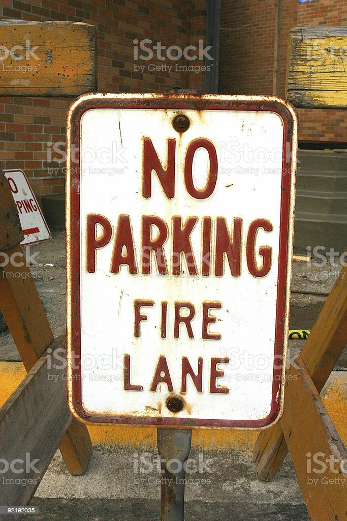 No Parking Fire Lane royalty-free stock photo