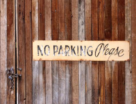 No Parking Grunge