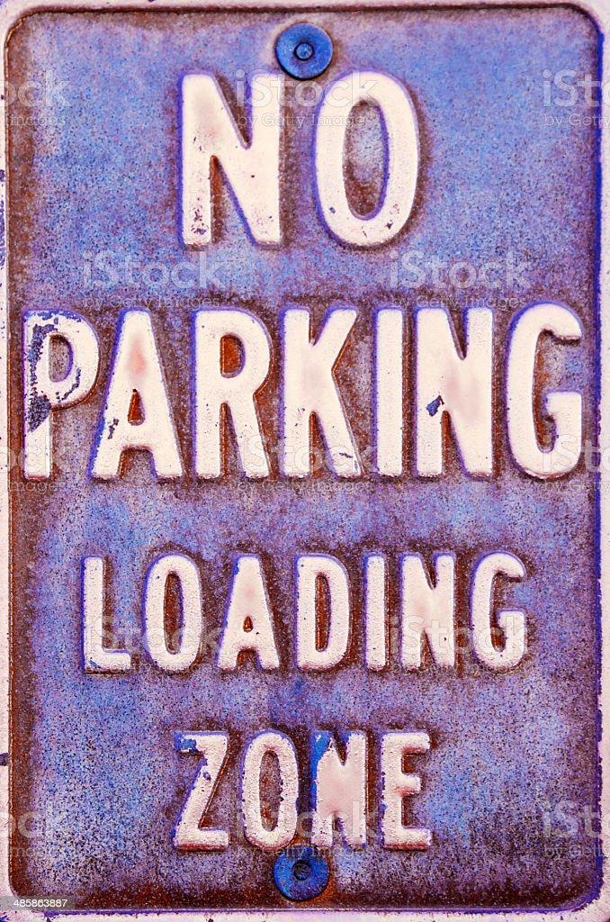 no parking loading zone stock photo