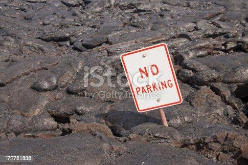 istock No Parking on Lava, Humorous Sign, Volcano Lava-flow, Molten Rock 172781838