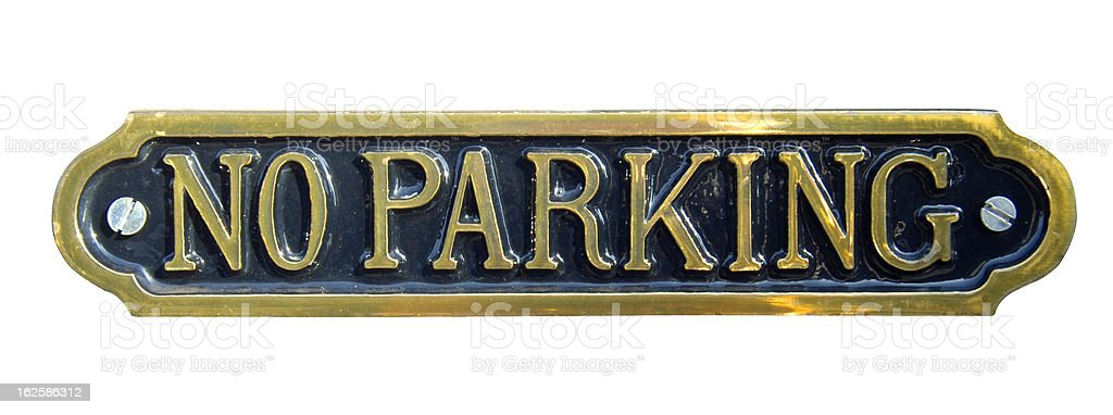 No Parking (With clipping path) royalty-free stock photo