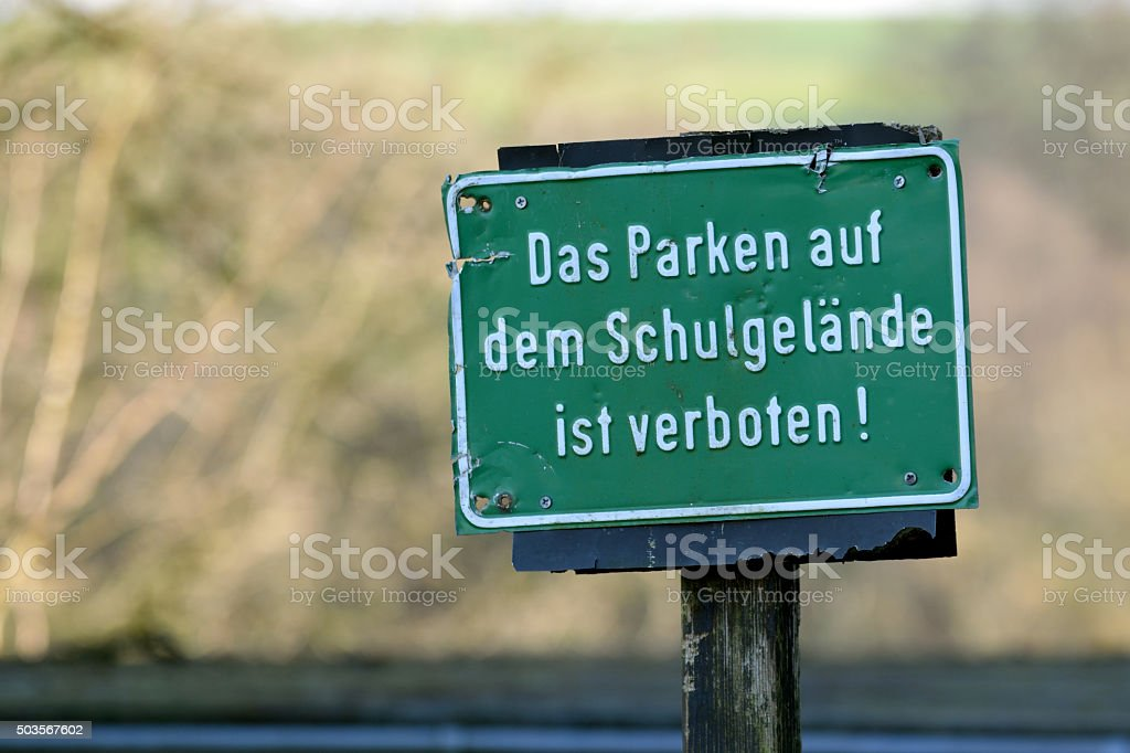 Parken verboten! stock photo