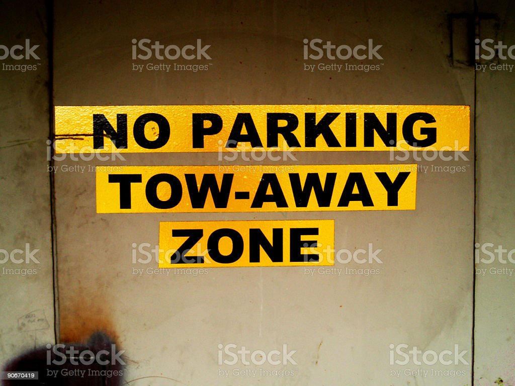 No Parking Sign - Grunged royalty-free stock photo