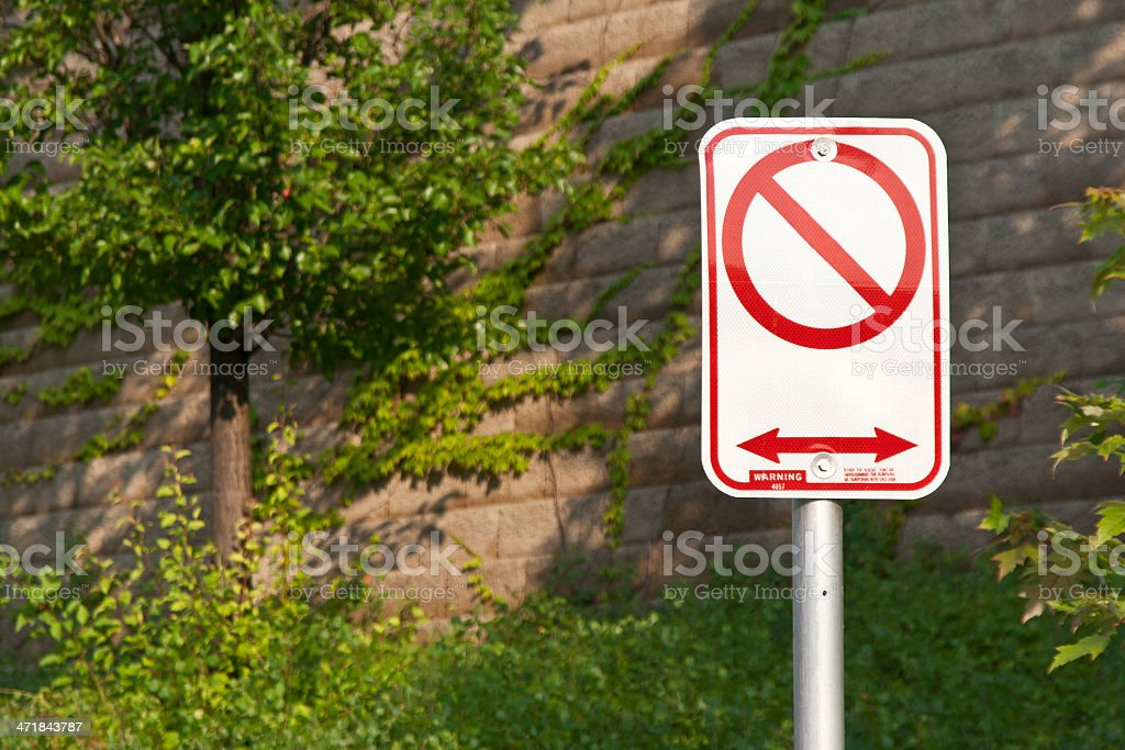 No parking sign left blank royalty-free stock photo