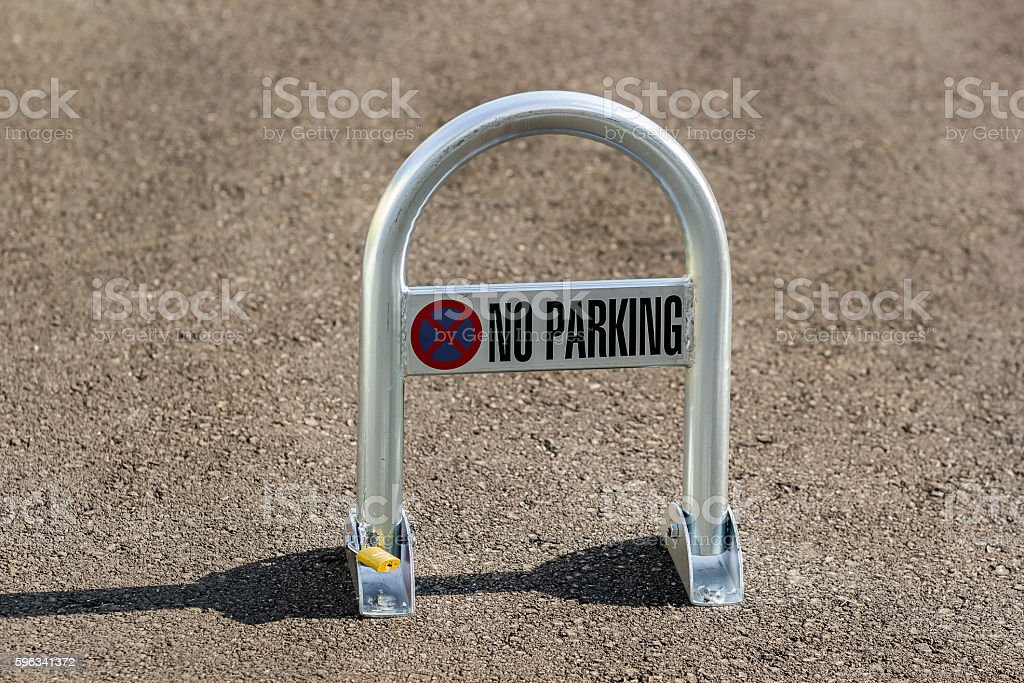 No parking sign on a parking lot royalty-free stock photo