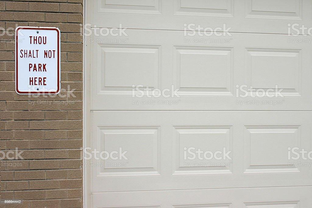 Señal de prohibido aparcar foto de stock libre de derechos