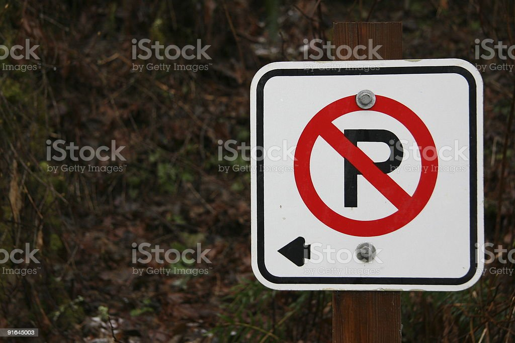 No Parking to the Left royalty-free stock photo
