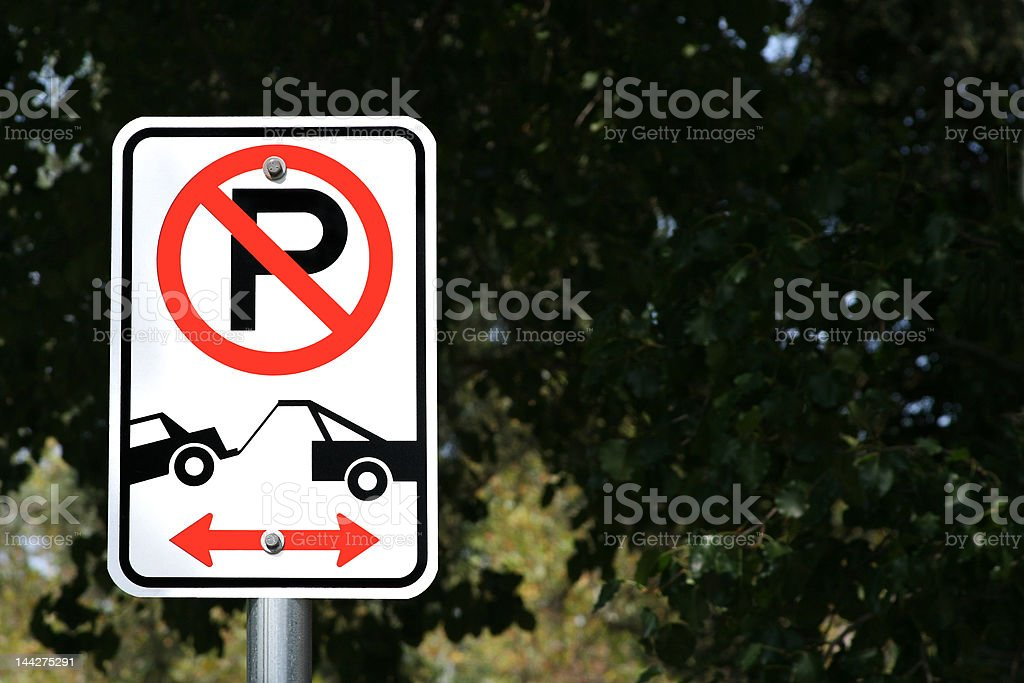 No Parking Tow Away Zone royalty-free stock photo