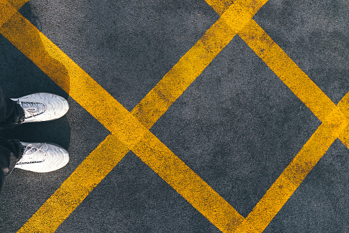 POV No Parking Yellow Cross Zone