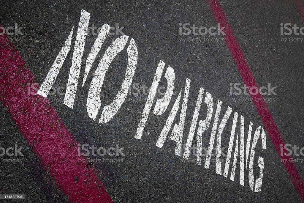 No parking zone royalty-free stock photo