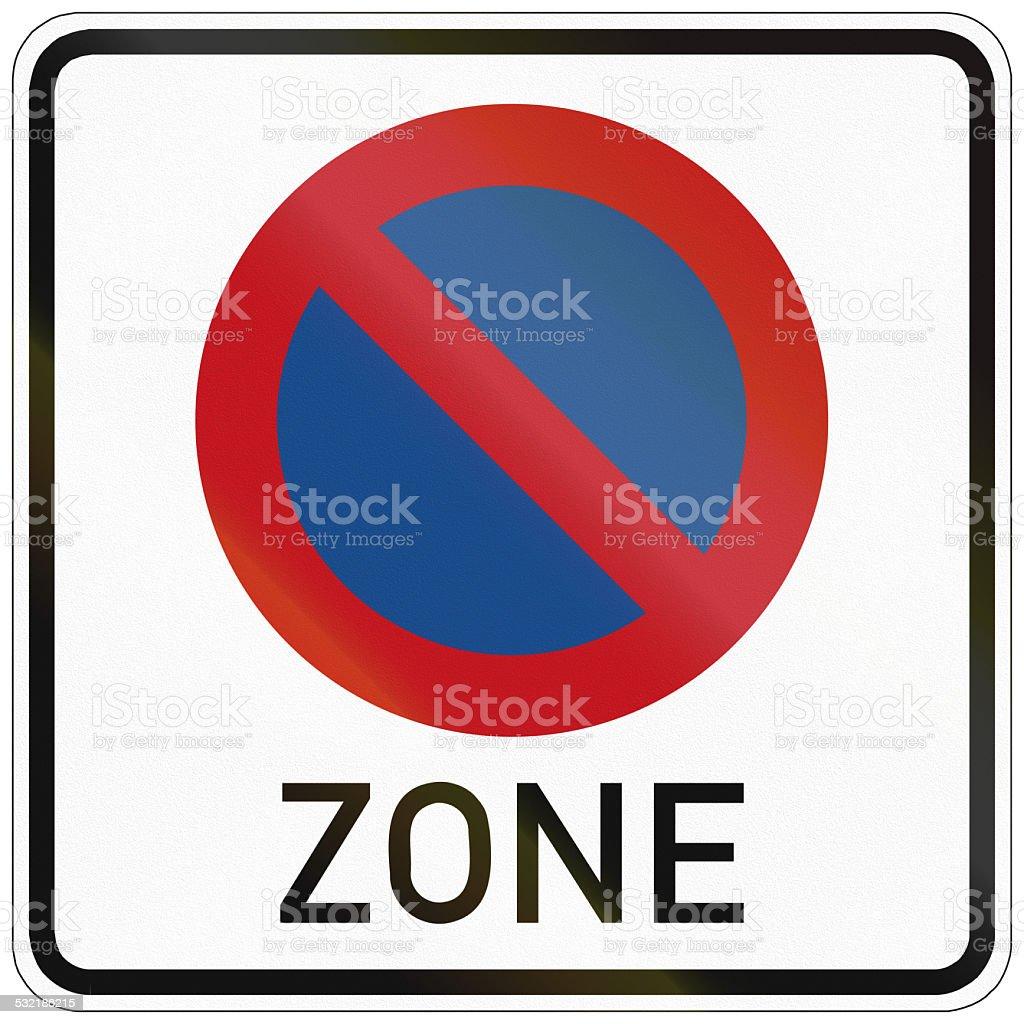 No Parking Zone stock photo