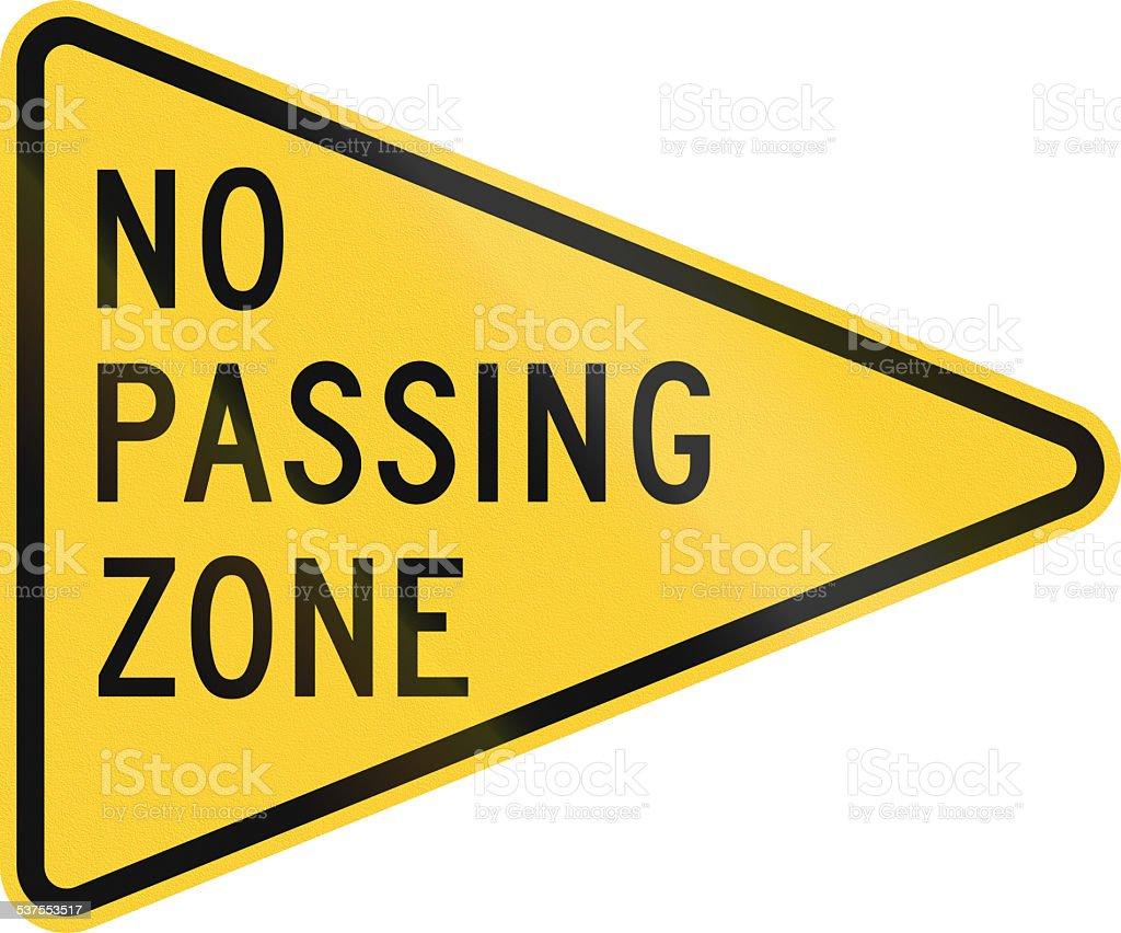 No Passing Zone stock photo