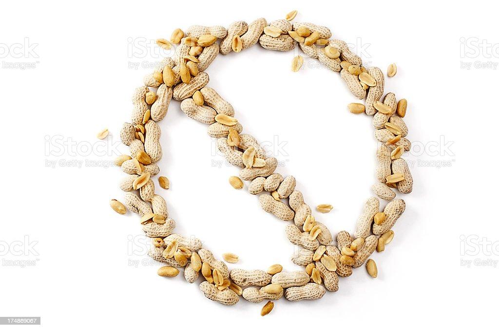 No Peanuts royalty-free stock photo