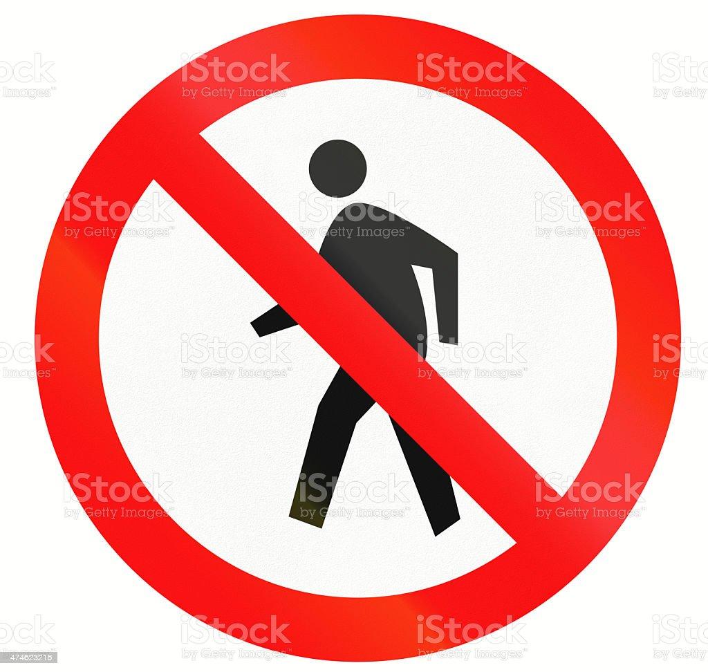 No Pedestrians In Indonesia stock photo