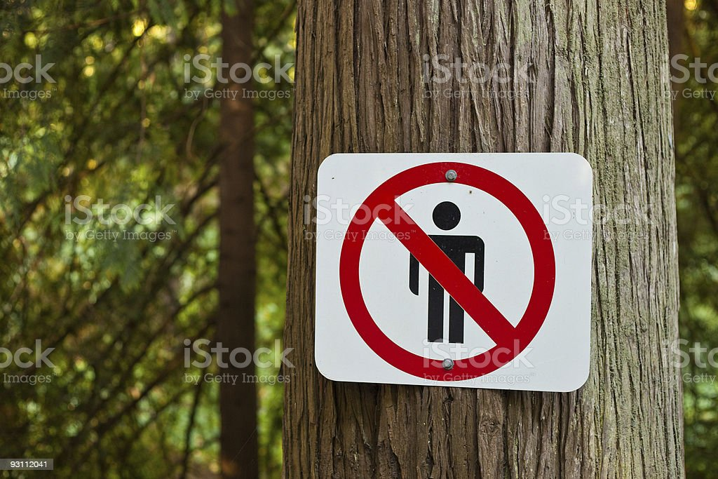 No People In The Forest - Royalty-free Dikkat İşareti Stok görsel