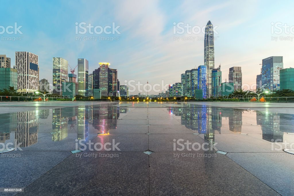 No people 's ground in the center of Shenzhen stock photo
