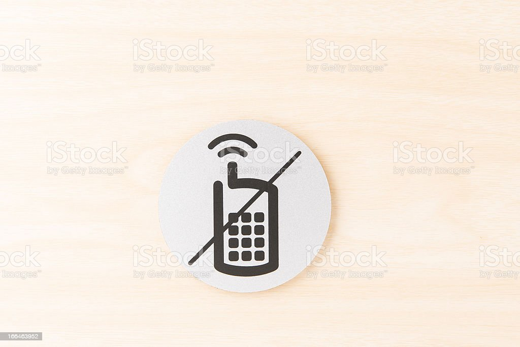 No Phone Allow Sign - Royalty-free Allowance Stock Photo