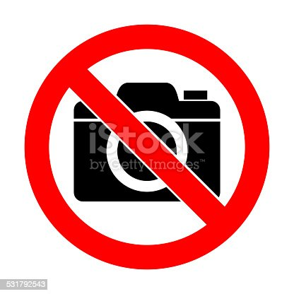 istock No photo camera sign icon on white background 531792543
