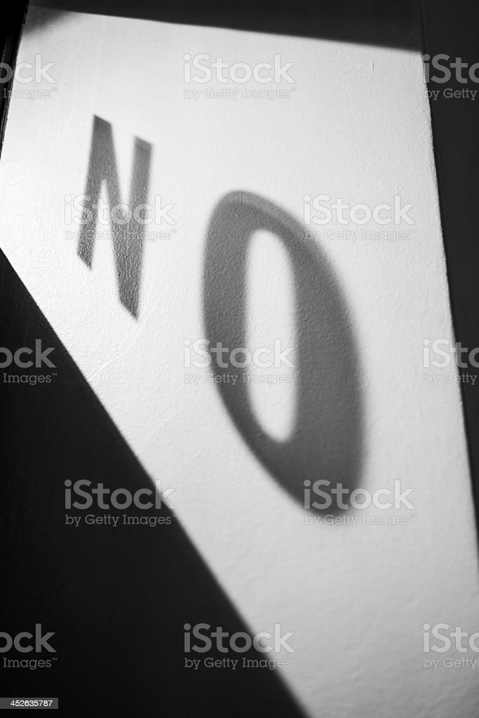 No! royalty-free stock photo