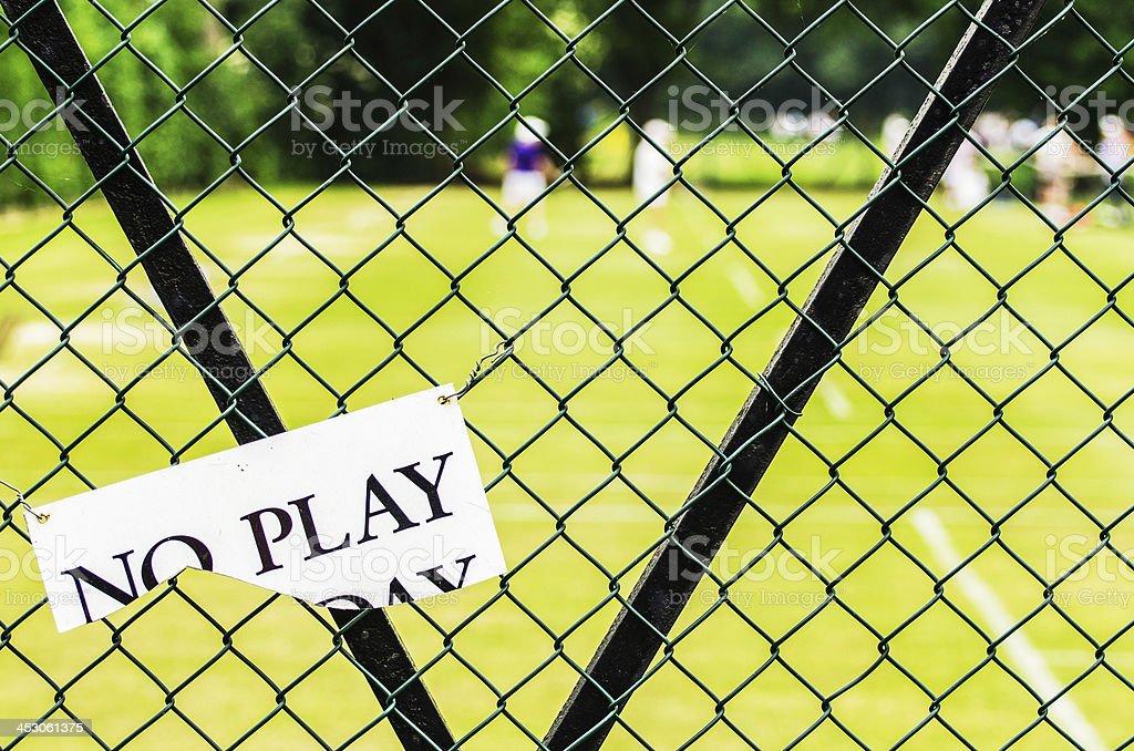 No Play royalty-free stock photo