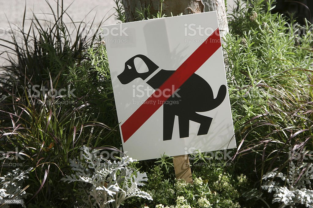 No Poop Sign royalty-free stock photo