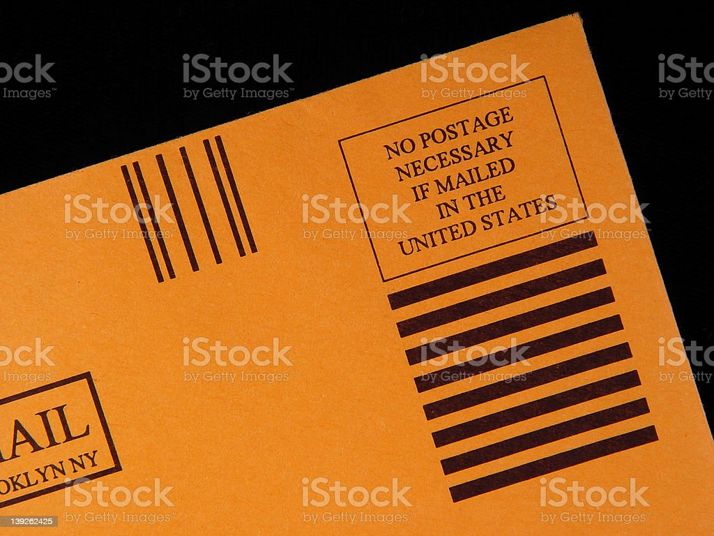 No Postage Needed royalty-free stock photo