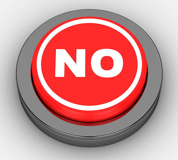 no red button on a white background no red button on a white background single word no stock pictures, royalty-free photos & images