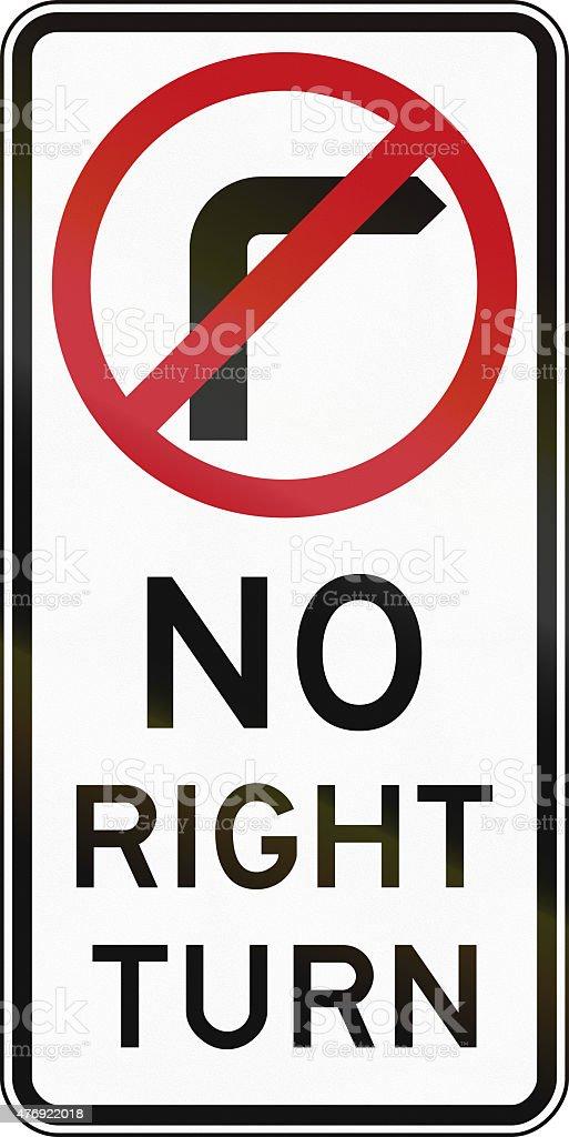 No Right Turn In Australia stock photo