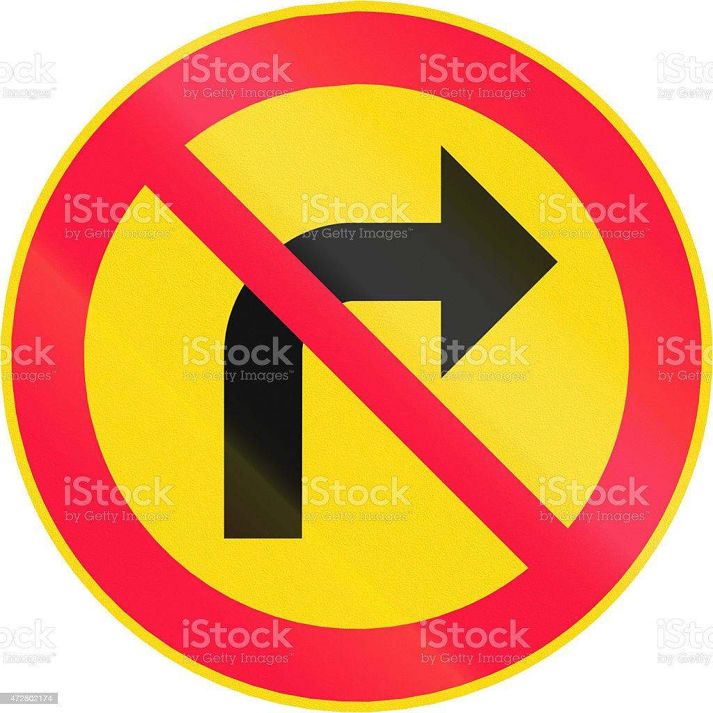 No Right Turn in Finland stock photo