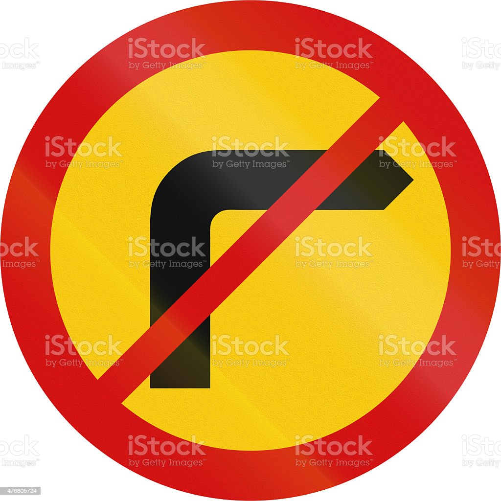No Right Turn in Iceland stock photo