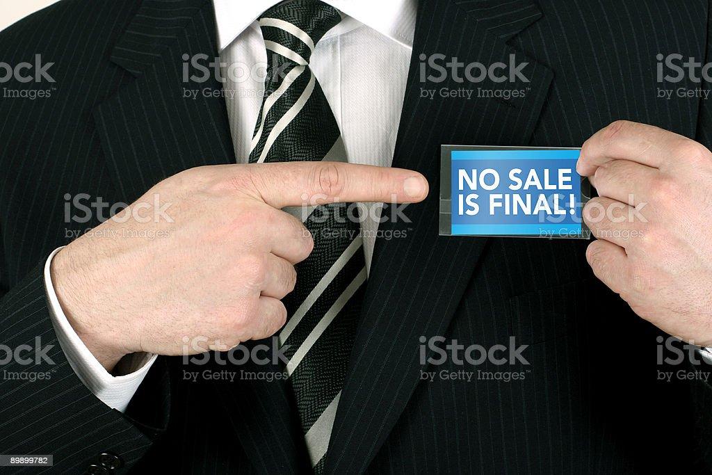 Nessuna vendita è definitiva foto stock royalty-free