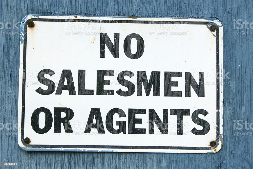No Salesmen 3 royalty-free stock photo