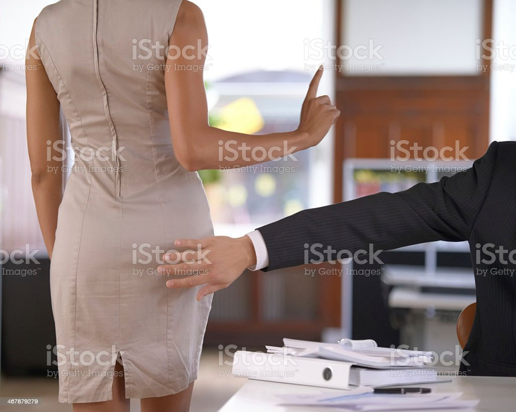 No sexual harassment at the office! stock photo