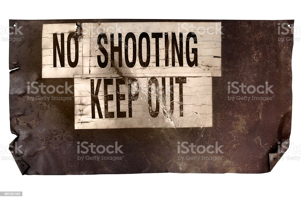 No Shooting Sign (With Path) stock photo