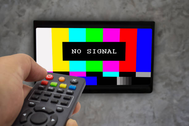 no signal television. - railway signal stock photos and pictures