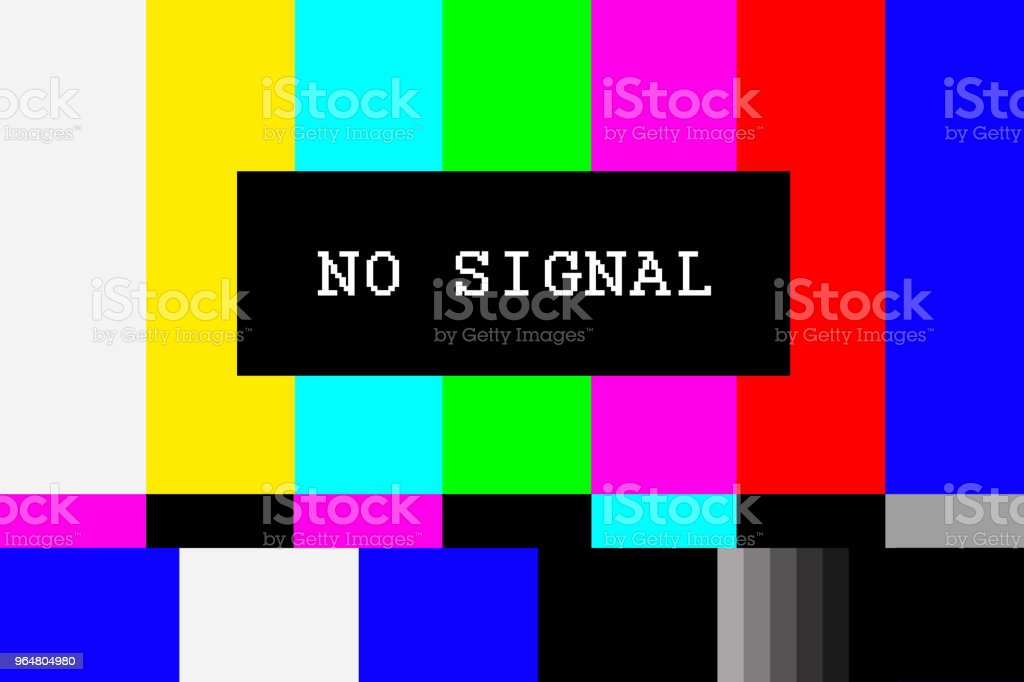 No signal TV test pattern background royalty-free stock photo